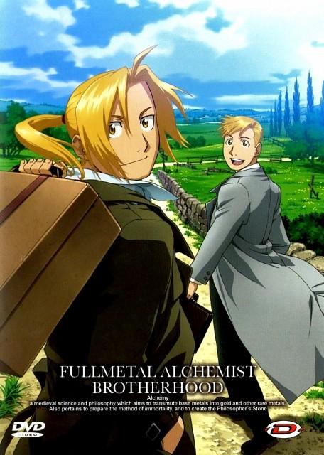 BONES, Fullmetal Alchemist, Alphonse Elric, Edward Elric, DVD Cover