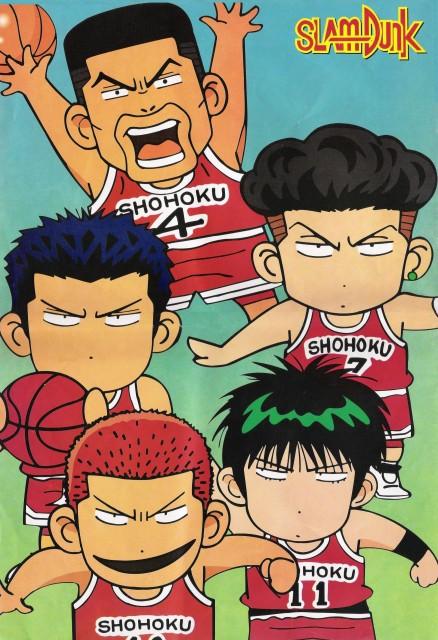 Takehiko Inoue, Slam Dunk, Kaede Rukawa, Hanamichi Sakuragi, Takenori Akagi