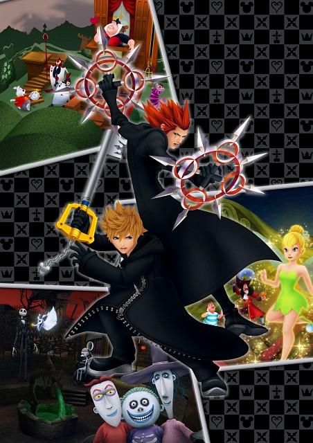 Square Enix, Kingdom Hearts, Axel, Roxas, White Rabbit