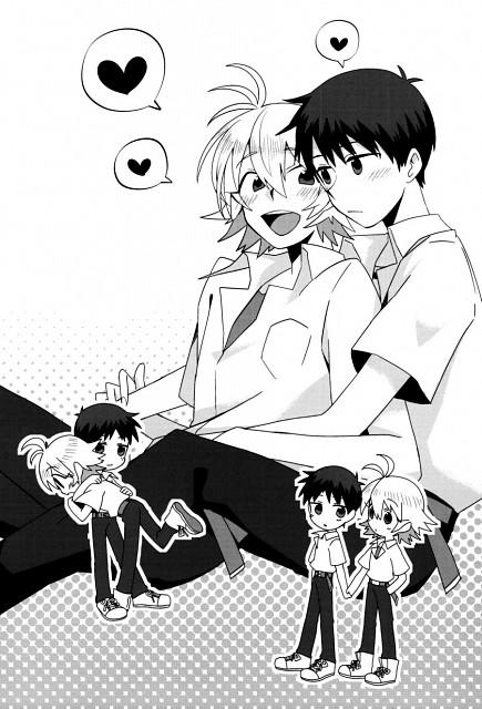 Neon Genesis Evangelion, Kaworu Nagisa, Shinji Ikari, Doujinshi
