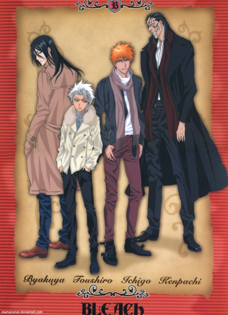 Studio Pierrot, Bleach, Kenpachi Zaraki, Toshiro Hitsugaya, Byakuya Kuchiki