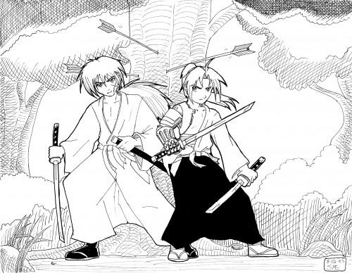Fullmetal Alchemist, Rurouni Kenshin, Edward Elric, Kenshin Himura, Member Art