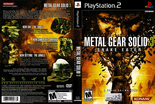 Konami, Metal Gear Solid, Solid Snake, Video Game Cover