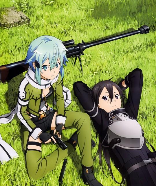 Abec, A-1 Pictures, Sword Art Online, Sinon, Kazuto Kirigaya