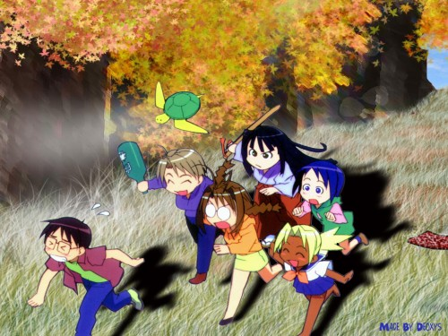 Ken Akamatsu, Love Hina, Mitsune Konno, Naru Narusegawa, Tama-chan (Love Hina) Wallpaper