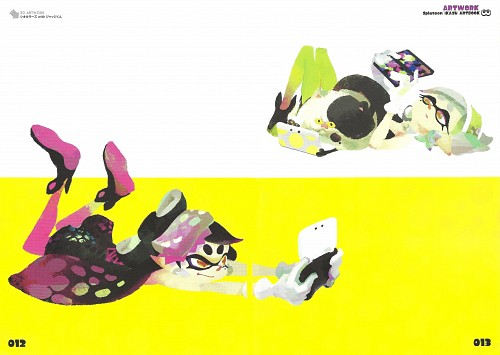 Nintendo, Splatoon: Ikasu Artbook, Splatoon, Hotaru (Splatoon), Aori