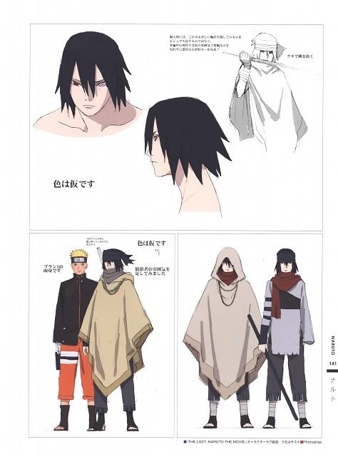 Naruto, The Art of Tetsuya Nishio: Full Spectrum, Sasuke Uchiha, Naruto Uzumaki, Character Sheet