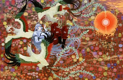 Tsurui, Kachou Fuugetsu, Touhou, Fujiwara no Mokou