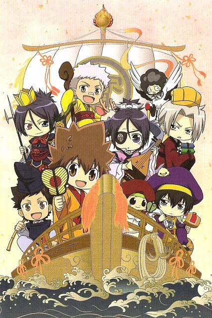 Akira Amano, Katekyo Hitman Reborn!, Kyoya Hibari, Mukuro Rokudo, Reborn (Character)