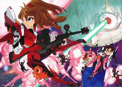 Sushio, Gainax, Neon Genesis Evangelion, Makinami Mari Illustrious, Gendo Ikari