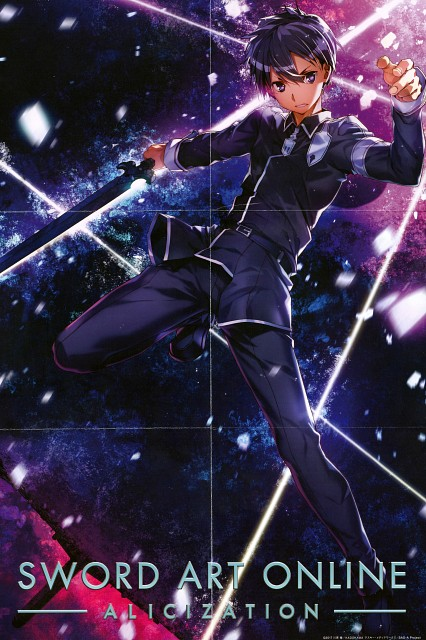 Abec, A-1 Pictures, Sword Art Online, Kazuto Kirigaya, Pin-up Poster
