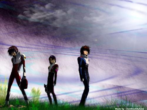 Sunrise (Studio), Mobile Suit Gundam SEED Destiny, Kira Yamato, Shinn Asuka, Athrun Zala Wallpaper