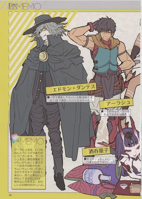 rco wada, Fate/Grand Order, Shuten-douji, Edmond Dantes (Fate/Grand Order), Altera