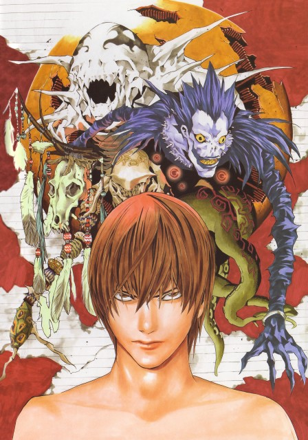 Takeshi Obata, Death Note, Blanc et Noir, Ryuk, Light Yagami