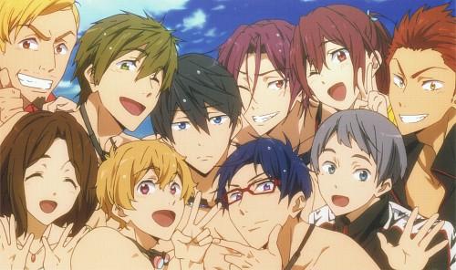 Kyoto Animation, Free!, Makoto Tachibana, Aiichiro Nitori, Haruka Nanase (Free!)
