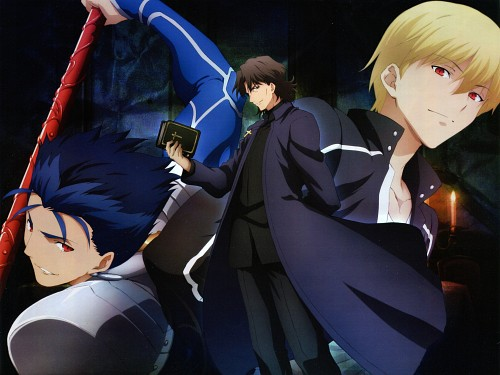 TYPE-MOON, Ufotable, Fate/stay night, Gilgamesh (Fate/stay night), Lancer (Fate/stay night)