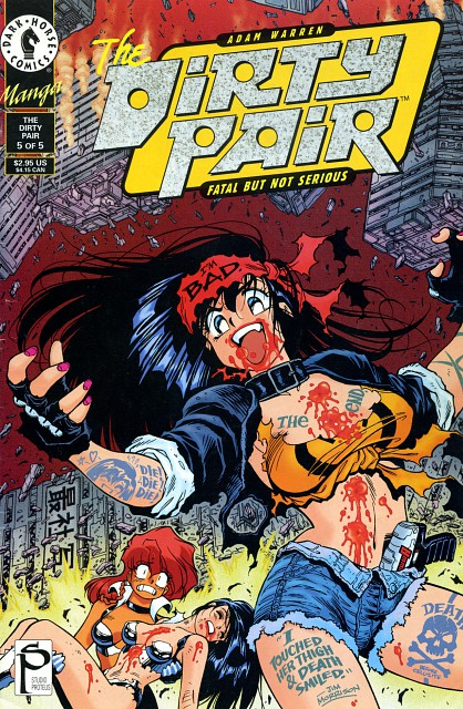 dirty pair  dirty pair comic cover