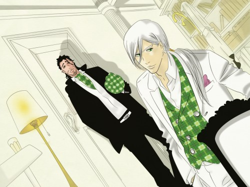Kubo Tite, Studio Pierrot, Bleach, Juushirou Ukitake, Shunsui Kyouraku Wallpaper