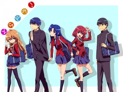Yasu, J.C. Staff, Toradora!, Ami Kawashima, Ryuuji Takasu Wallpaper