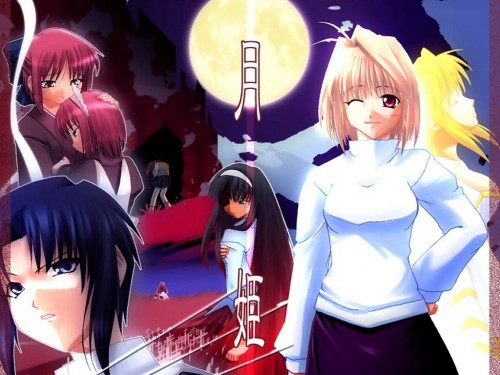 TYPE-MOON, Shingetsutan Tsukihime, Akiha Tohno, Arcueid Brunestud, Ciel (Shingetsutan Tsukihime) Wallpaper