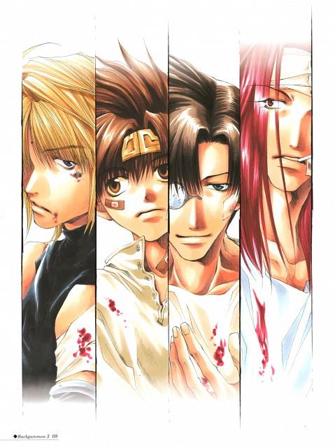 Kazuya Minekura, Studio Pierrot, Saiyuki, Backgammon 3, Genjyo Sanzo