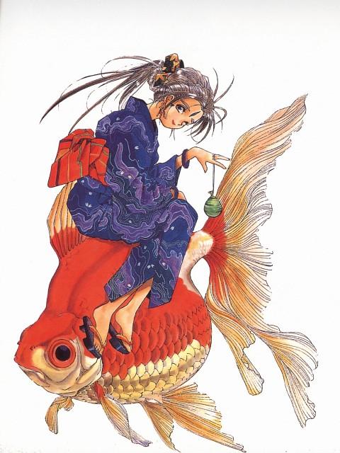 Kousuke Fujishima, Anime International Company, Ah! Megami-sama, Ah! Megami-sama Postcard Book, Belldandy