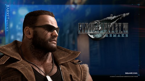 Square Enix, Final Fantasy VII, Barret Wallace, Official Wallpaper