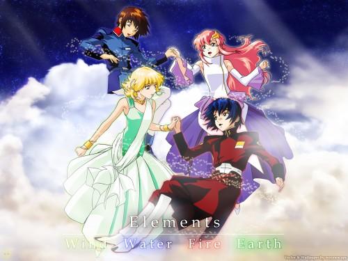 Sunrise (Studio), Mobile Suit Gundam SEED, Cagalli Yula Athha, Lacus Clyne, Athrun Zala Wallpaper