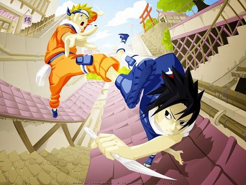 Masashi Kishimoto, Naruto, Sasuke Uchiha, Naruto Uzumaki, Vector Art Wallpaper