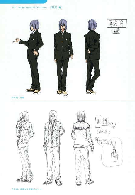 Futoshi Nishiya, Kyoto Animation, Free!, High Speed! Official Design Works, Nao Serizawa