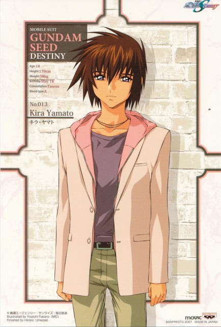 Youichi Fukano, Sunrise (Studio), Mobile Suit Gundam SEED Destiny, Kira Yamato