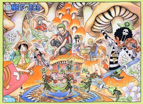 Eiichiro Oda, One Piece, Roronoa Zoro, Brook, Franky