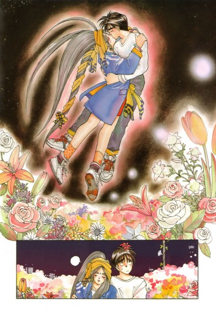 Kousuke Fujishima, Ah! Megami-sama, Keiichi Morisato, Belldandy