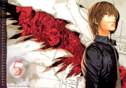 Takeshi Obata, Death Note, Light Yagami, Calendar