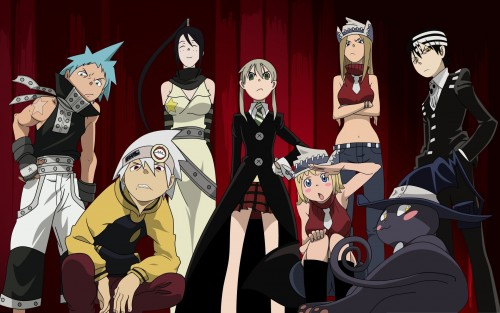 Soul Eater, Maka Albarn, Death The Kid, Liz Thompson, Patty Thompson Wallpaper