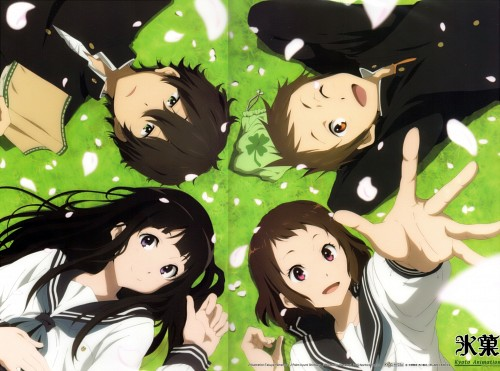 Kyoto Animation, Hyouka, Eru Chitanda, Satoshi Fukube, Mayaka Ibara