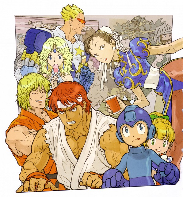 Capcom, Street Fighter 20th Anniversary Artworks, Marvel vs Capcom 3, Street Fighter, MegaMan