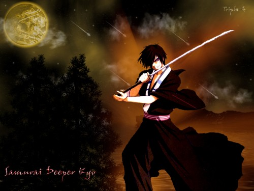 Studio Deen, Samurai Deeper Kyo, Demon Eyes Kyo Wallpaper
