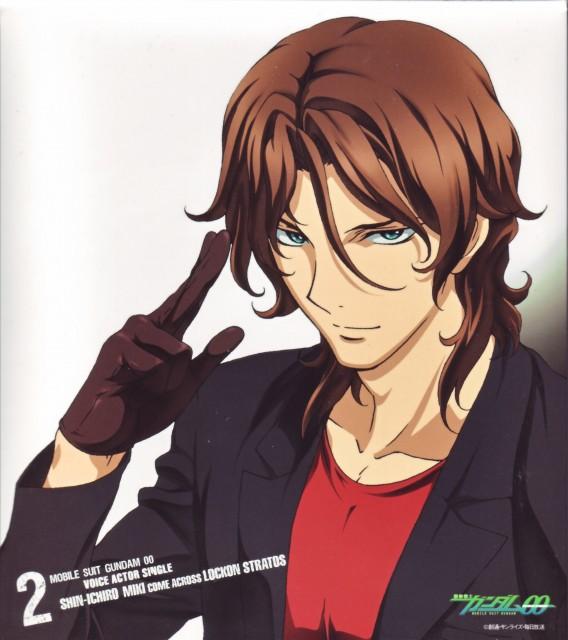 Sunrise (Studio), Mobile Suit Gundam 00, Lockon Stratos, Album Cover