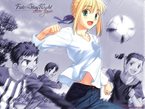 TYPE-MOON, Fate/Hollow ataraxia, Saber, Shiro Emiya Wallpaper