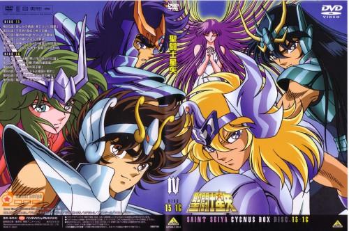 Saint Seiya, Andromeda Shun, Cygnus Hyoga, Pegasus Seiya, Saori Kido