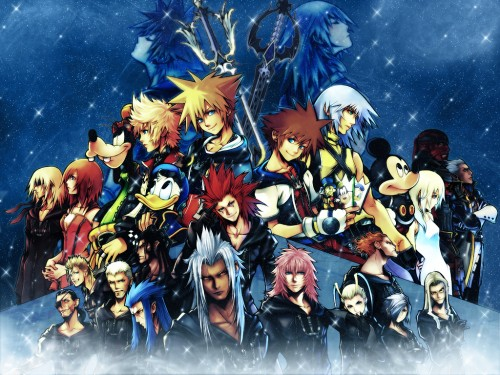 Square Enix, Kingdom Hearts, Kairi, Xaldin, Larxene Wallpaper