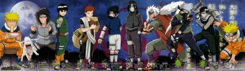 Studio Pierrot, Naruto, Kakashi Hatake, Rock Lee, Sasuke Cursed Seal
