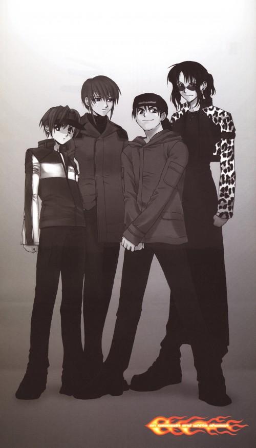 Kyoko Tsuchiya, Weiss Kreuz, Ran Fujimiya, Ken Hidaka, Omi Tsukiyono