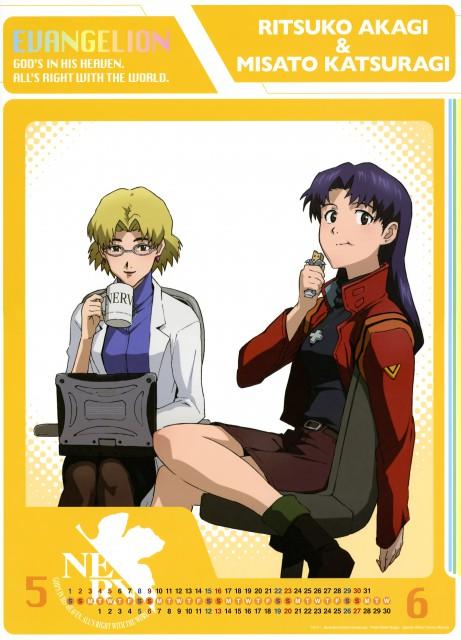 Khara, Neon Genesis Evangelion, Evangelion 2010 Calendar, Misato Katsuragi, Ritsuko Akagi
