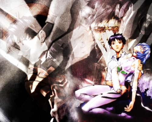 Yoshiyuki Sadamoto, Neon Genesis Evangelion, Rei Ayanami, Shinji Ikari Wallpaper