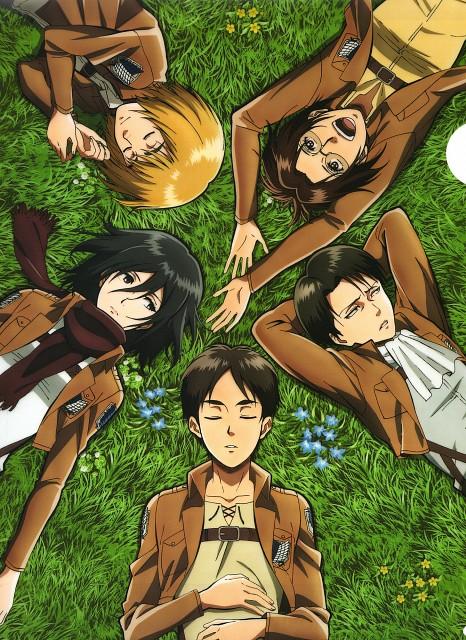 Production I.G, Shingeki no Kyojin, Eren Yeager, Mikasa Ackerman, Armin Arlert