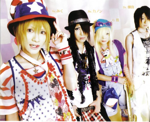 Bou (J-Pop Idol), Teruki, Akiharu Tsukiyama, An Cafe, Kanon (J-Pop Idol)