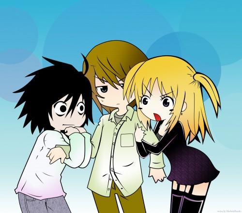 Death Note, Light Yagami, Misa Amane, L, Vector Art
