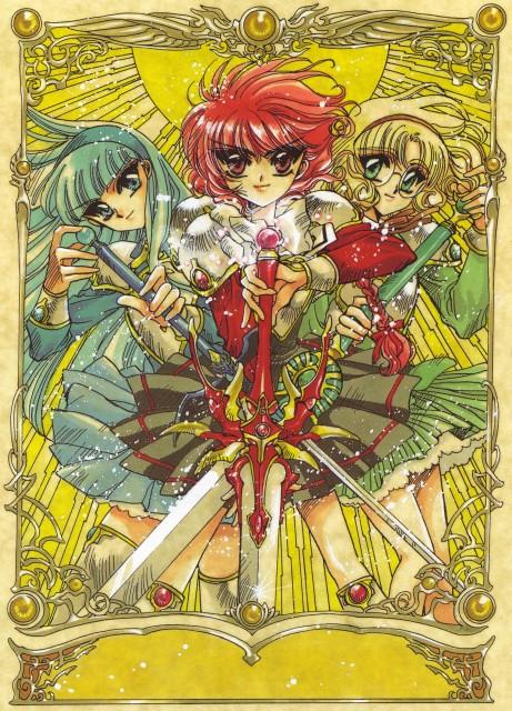 CLAMP, Magic Knight Rayearth, Magic Knight Rayearth Illustrations Collection, Hikaru Shidou, Umi Ryuuzaki